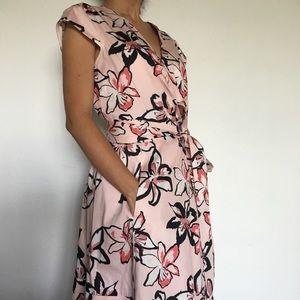 e58e52152 kate spade Dresses - Kate Spade Tiger Lily Floral Pink Wrap Dress